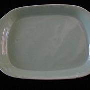 "Bauer La Linda 12 3/4"" Oval Platter, Green"