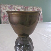Signed Bronze Cup, Nubian Woman