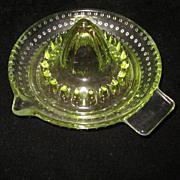 Vaseline Glass Small Juice Reamer, Arc France