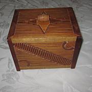 Folk Art Prison Made Matchstick Box/Bank