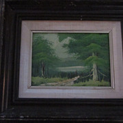 Jidell Forest Landscape Oil Painting, Green Tones