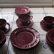 Franciscan Coronado Burgundy Dinnerware, 20 Pieces