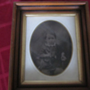 Full Plate Tintype, Seated Child Holding Riding Crop