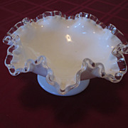 Fenton Silvercrest Footed Bowl, 8 1/2""