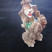 """Brown Begging Spaghetti Poodle, 6 1/2"""", by Wales, Japan"""
