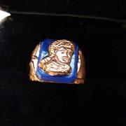 Vintage Davy Crockett Plastic Ring
