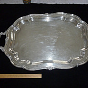 Large, Heavy,  Silver Plated Tea Tray