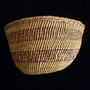 Klamath Indian Coiled Soft Side Basket