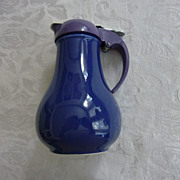 Fiesta DripCut Syrup Pitcher, Cobalt Blue