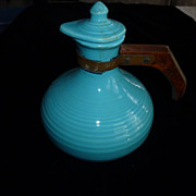 Bauer Ringware Turquoise Carafe and Lid