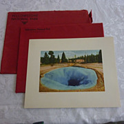 SOLD Haynes Red Portfolio Yellowstone Color Plates, Set of 12