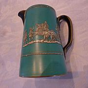 Pratt Green and Black Grecian Ware Pitcher 1850-70