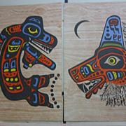 SALE PENDING 3 Postcards, Pacific Northwest Coast, Signed CB Greul