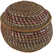 Tramp Art Coiled Basket