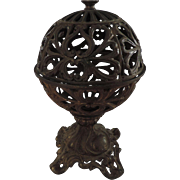 Cast Iron Globe String Holder, On Stand