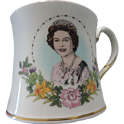 Coalport Coffee Mug Commemorating Queen Elizabeth II 60th Birthday, Original Box