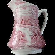 Alfred Meakin Pink Tintern Pattern Pitcher