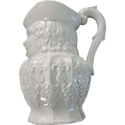 Large White Toby Jug with French Decoration