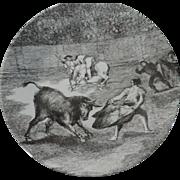 Pontesa Bullfight Scenes, by Goya, Dinner Plates, Set of 3