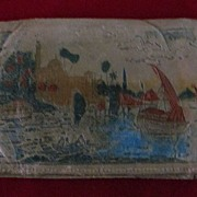 WWII Souvenir EgyptianArtisan Made Leather Wallet