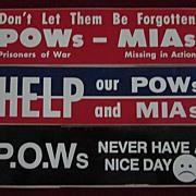 Set of 3 Vietnam POW Bumper Stickers