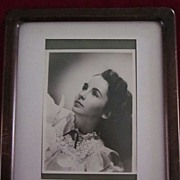 Young Elizabeth Taylor Autographed Photo