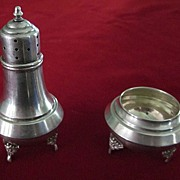 Sterling Silver Footed Salt Cellar and Pepper Shaker