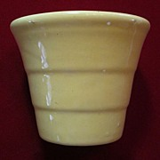 "Bauer 3 1/2"" Yellow Stepped Flower Pot"