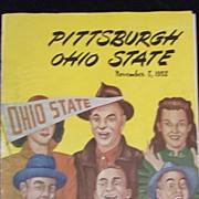 College Football Program, Pitt/Ohio State, Nov.8, 1952