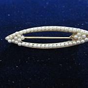 Petite Pearl Pierced Pin