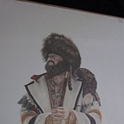 SOLD Earl J. Cacho Signed, Numbered Mountain Man Lithograph