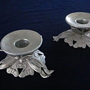 Hand Wrought Aluminum Candle Holders