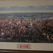 1952 Budweiser  Custer's Last Fight Framed Lithograph