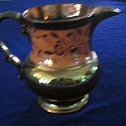 Copper Luster Pitcher with Buff Band