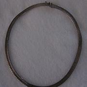 "Sterling Silver Heavy Herringbone 16 1/2"" Necklace, 34.7 Grams"