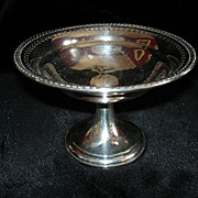 REDUCED Sterling compote by Frank Whiting beautifully reticulated