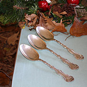Strasbourg sterling silver serving spoons by Gorham