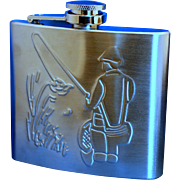 SOLD Fisherman's Flask- stainless steele 5oz