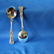 Buttercup cream soup round bowl spoons by Gorham