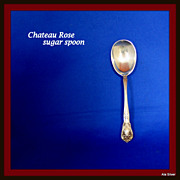 Chateau Rose sugar spoon in solid sterling silver by Alvin