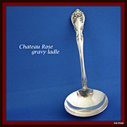 Chateau Rose gravy ladle in solid sterling silver by Alvin