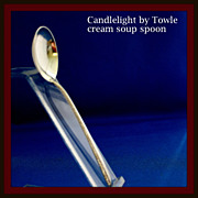 Candlelight cream soup spoon in solid sterling by Towle