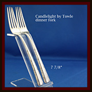 Candlelight fork is a true dinner size in solid sterling by Towle