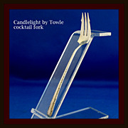 Candlelight pickle fork with distinguished design in solid sterling by Towle