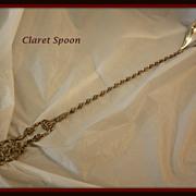 Claret (bar/lemonade) spoon  in sterling silver by  International Silver Co.