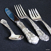 French Renaissance sterling place setting by Reed & Barton