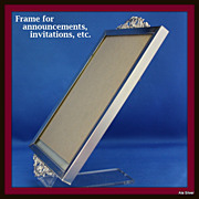Frame with decorative ends perfect for announcements, awards, special invitations