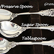 Grande Baroque sugar spoon by Wallace