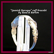 Spanish Baroque bracelet in sterling by Reed & Barton