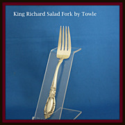 King Richard salad fork in sterling silver by Towle Silversmiths